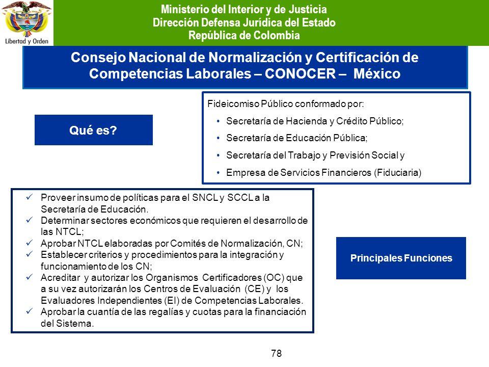 78 Consejo Nacional de Normalización y Certificación de Competencias Laborales – CONOCER – México Qué es? Fideicomiso Público conformado por: Secretar
