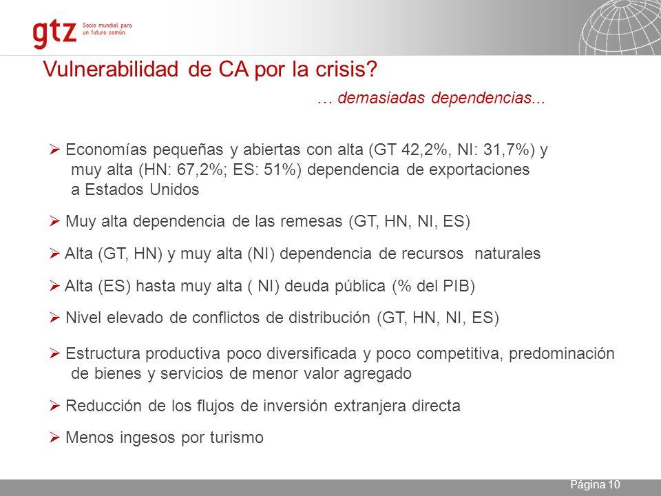 23.04.2014 Seite 10 Página 10 Vulnerabilidad de CA por la crisis.