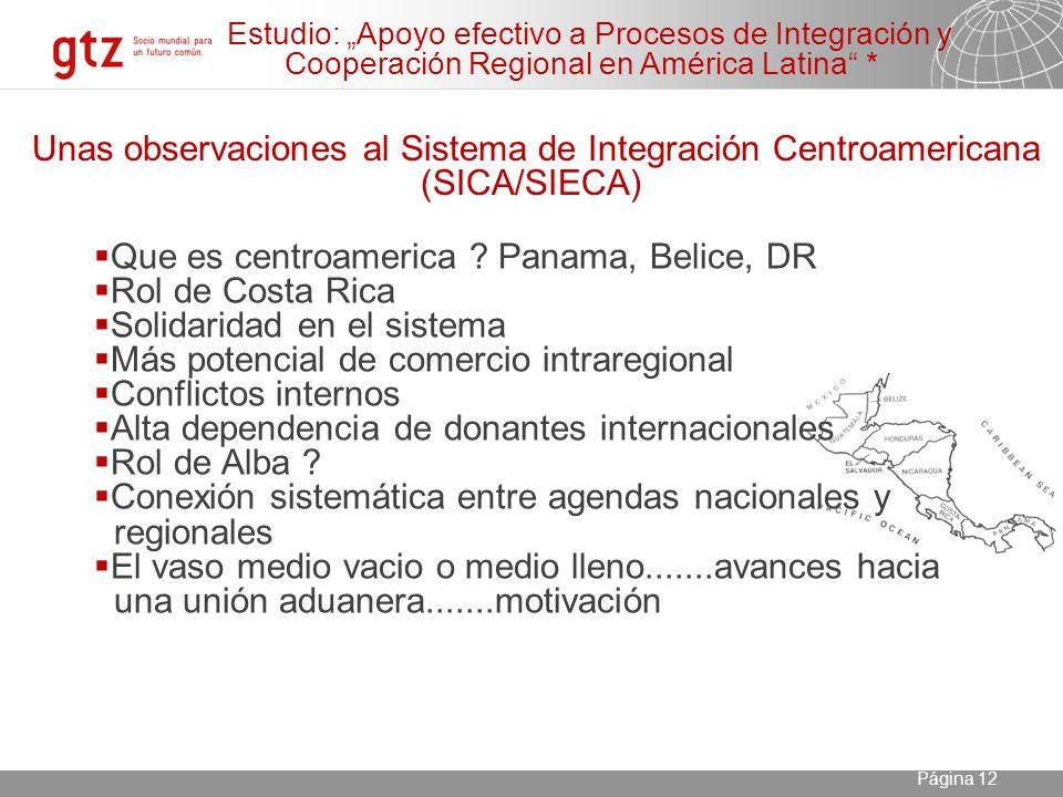 23.04.2014 Seite 12 Página 12 Unas observaciones al Sistema de Integración Centroamericana (SICA/SIECA) Que es centroamerica .