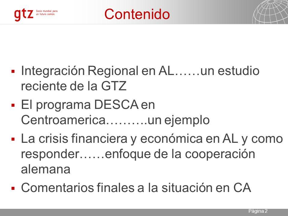 23.04.2014 Seite 3 Página 3 Integración o intercambio/cooperación .