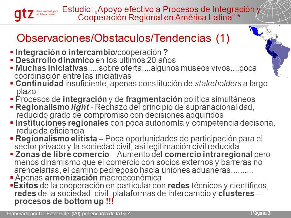 23.04.2014 Seite 4 Página 4 I.Fortalecimiento institucional eficaz requiere ciertas condiciones Voluntad política, Sostenibilidad.