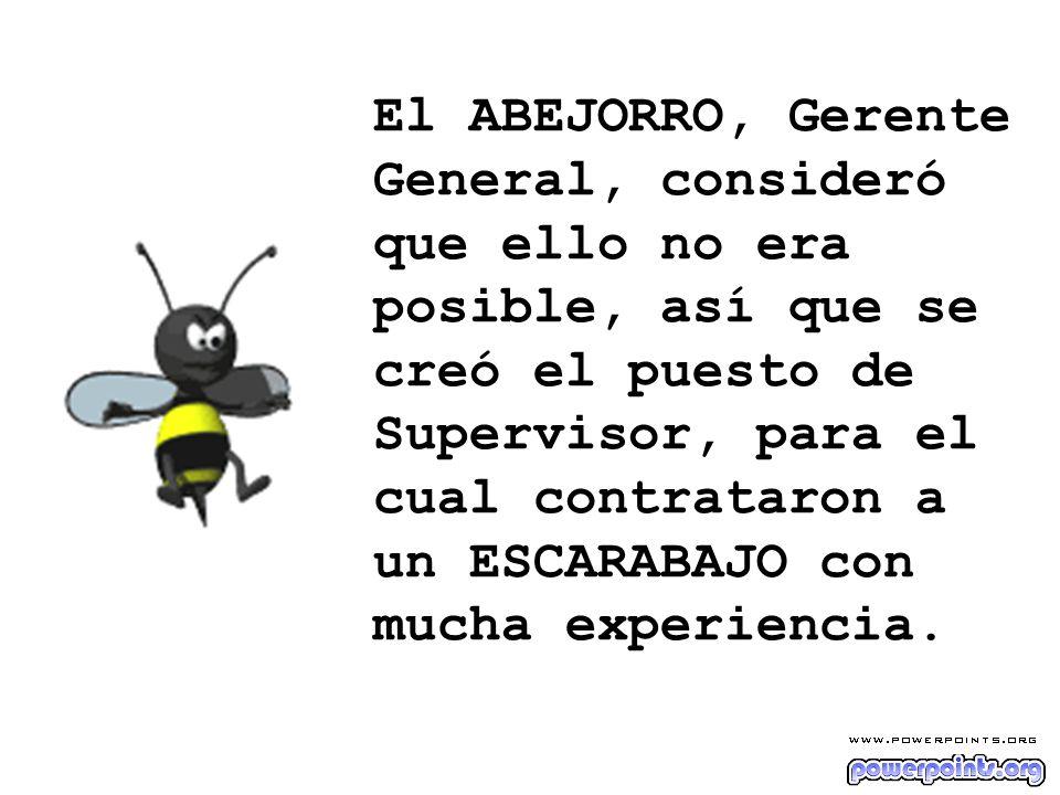 La primera preocupación del ESCARABAJO Supervisor fue organizar la hora de llegada y de salida y también preparó hermosos informes.