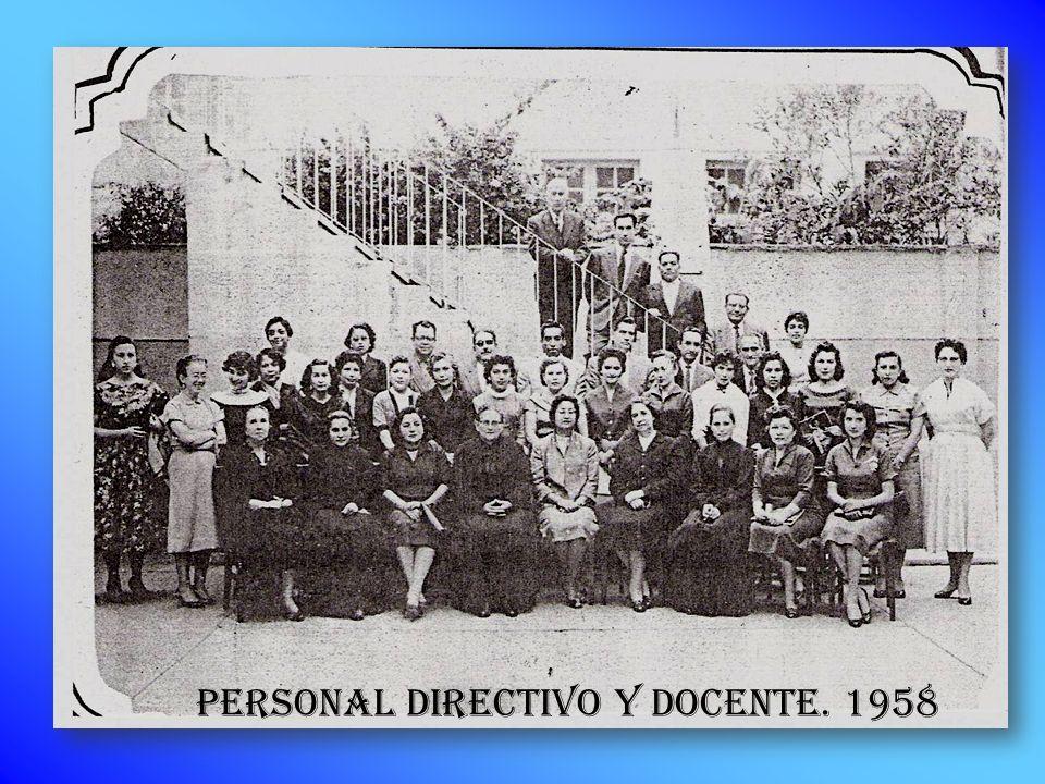 PERSONAL DIRECTIVO Y DOCENTE. 1958