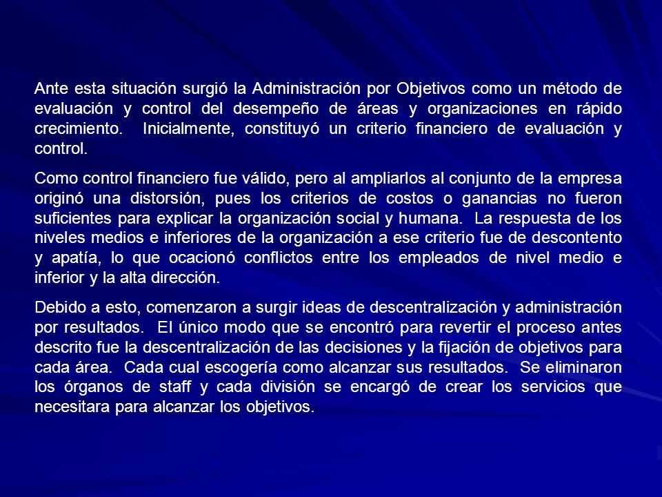 Principales teóricos de la Administración por objetivos Administración por Objetivos Peter F.