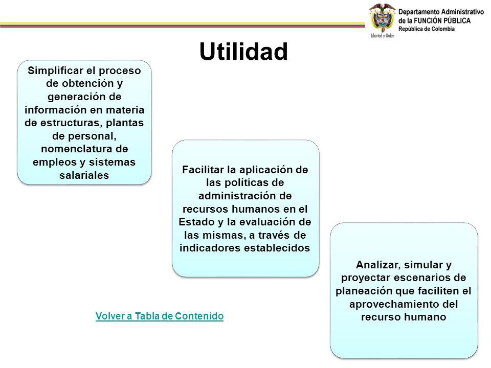Simplificar el proceso de obtención y generación de información en materia de estructuras, plantas de personal, nomenclatura de empleos y sistemas sal