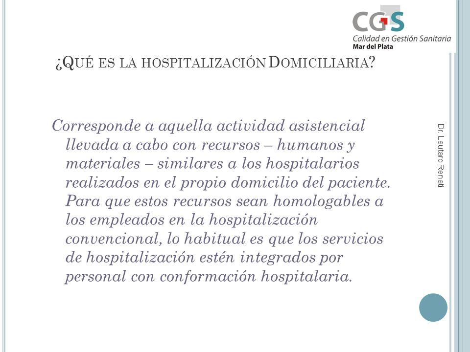 ¿Q UÉ ES LA HOSPITALIZACIÓN D OMICILIARIA .