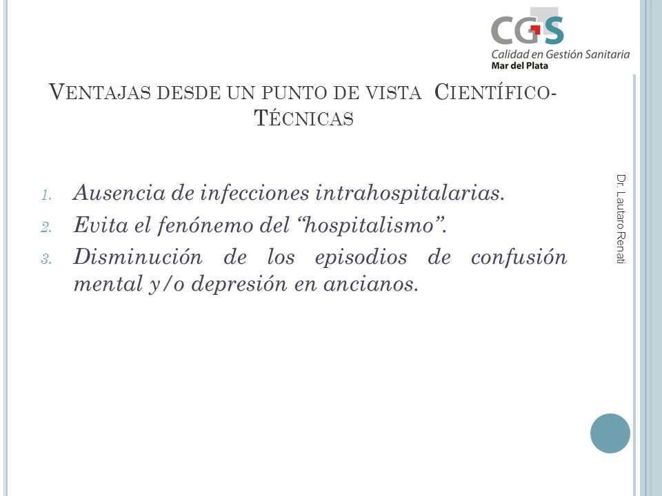 V ENTAJAS DESDE UN PUNTO DE VISTA C IENTÍFICO - T ÉCNICAS 1.