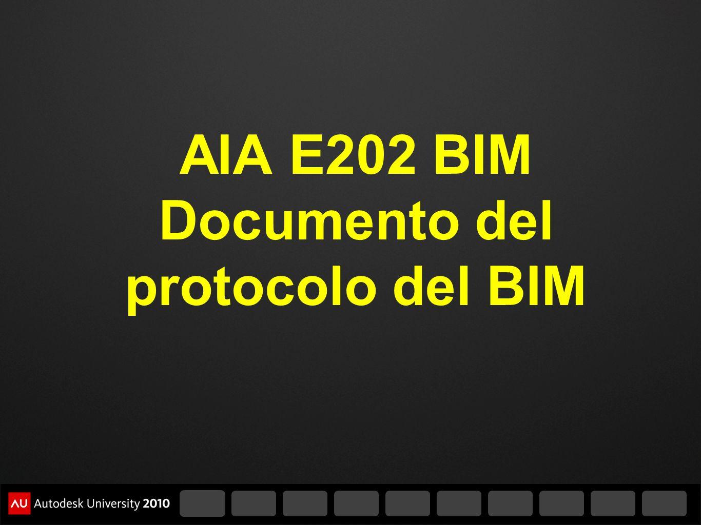 AIA E202 BIM Documento del protocolo del BIM