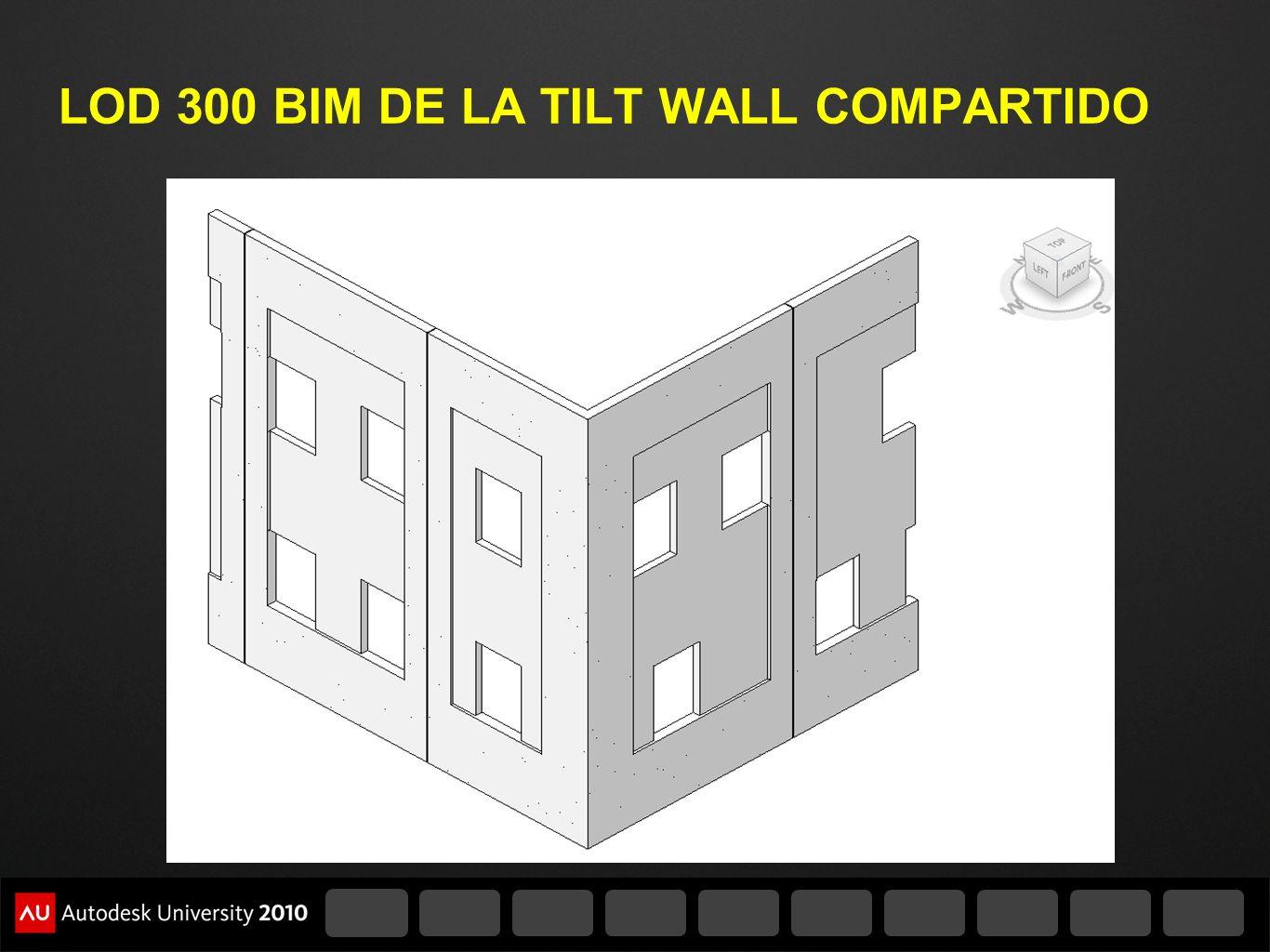 LOD 300 BIM DE LA TILT WALL COMPARTIDO