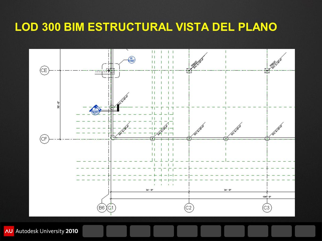 LOD 300 BIM ESTRUCTURAL VISTA DEL PLANO