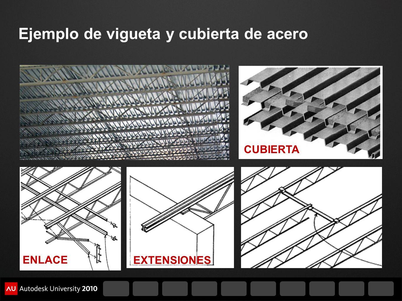 Ejemplo de vigueta y cubierta de acero ENLACE EXTENSIONES CUBIERTA