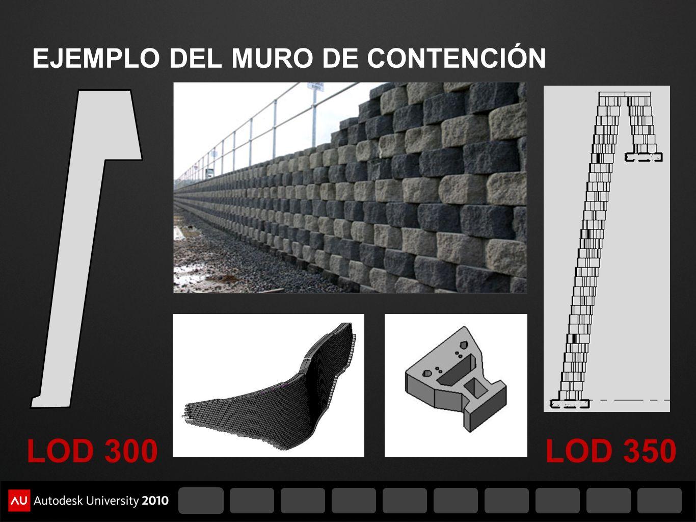 EJEMPLO DEL MURO DE CONTENCIÓN LOD 300LOD 350