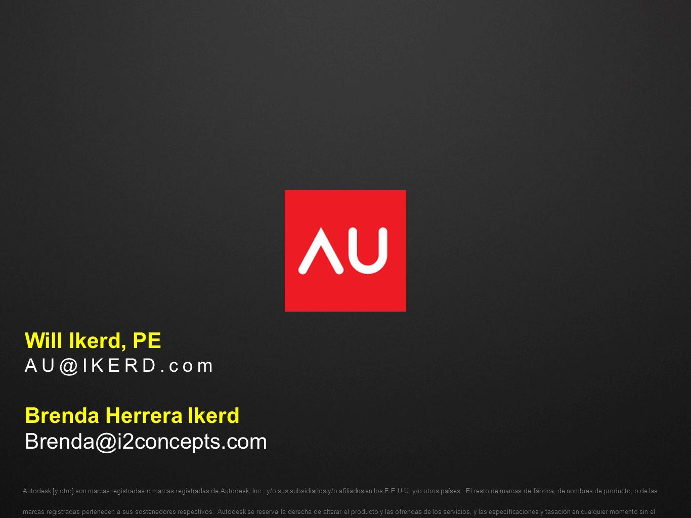 Autodesk [y otro] son marcas registradas o marcas registradas de Autodesk, Inc., y/o sus subsidiarios y/o afiliados en los E.E.U.U. y/o otros países.