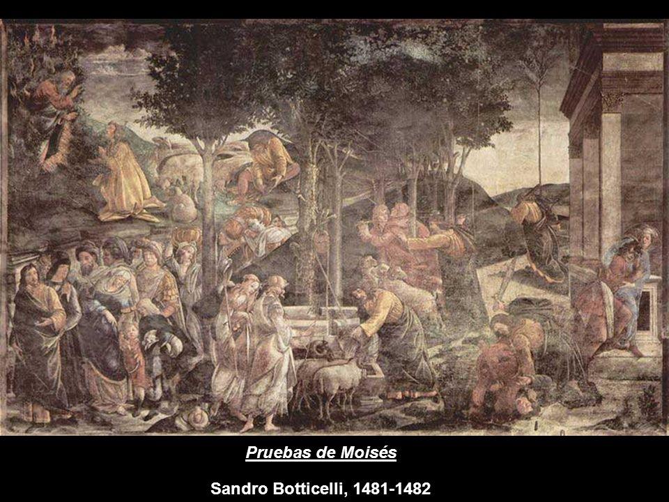 Pruebas de Moisés Sandro Botticelli, 1481-1482