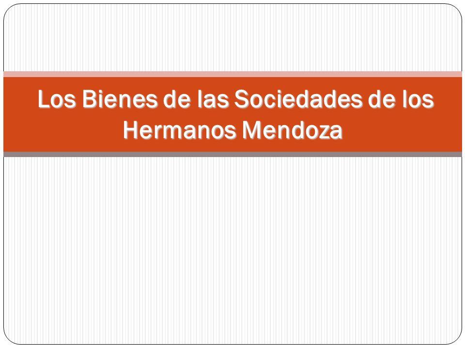 Los Bienes de las Sociedades de los Hermanos Mendoza Los Bienes de las Sociedades de los Hermanos Mendoza