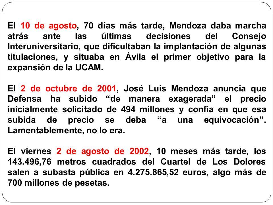 El 10 de agosto, 70 días más tarde, Mendoza daba marcha atrás ante las últimas decisiones del Consejo Interuniversitario, que dificultaban la implanta