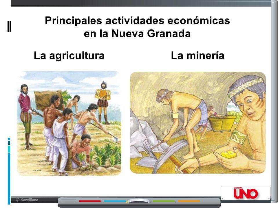 Principales actividades económicas en la Nueva Granada La mineríaLa agricultura