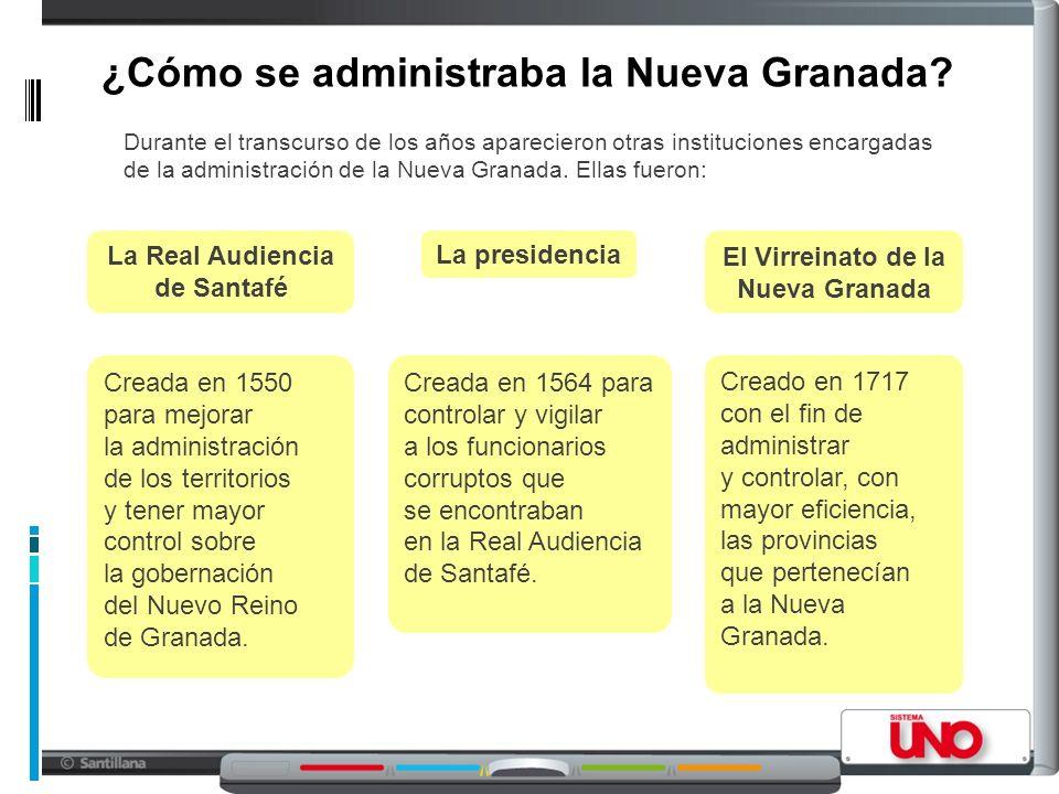 ¿Cómo se administraba la Nueva Granada.