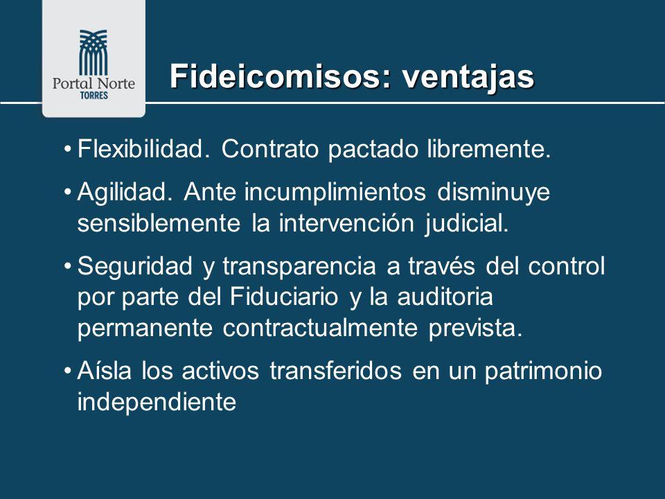 Flexibilidad. Contrato pactado libremente. Agilidad. Ante incumplimientos disminuye sensiblemente la intervención judicial. Seguridad y transparencia