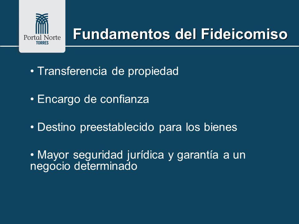 Fundamentos del Fideicomiso Transferencia de propiedad Encargo de confianza Destino preestablecido para los bienes Mayor seguridad jurídica y garantía