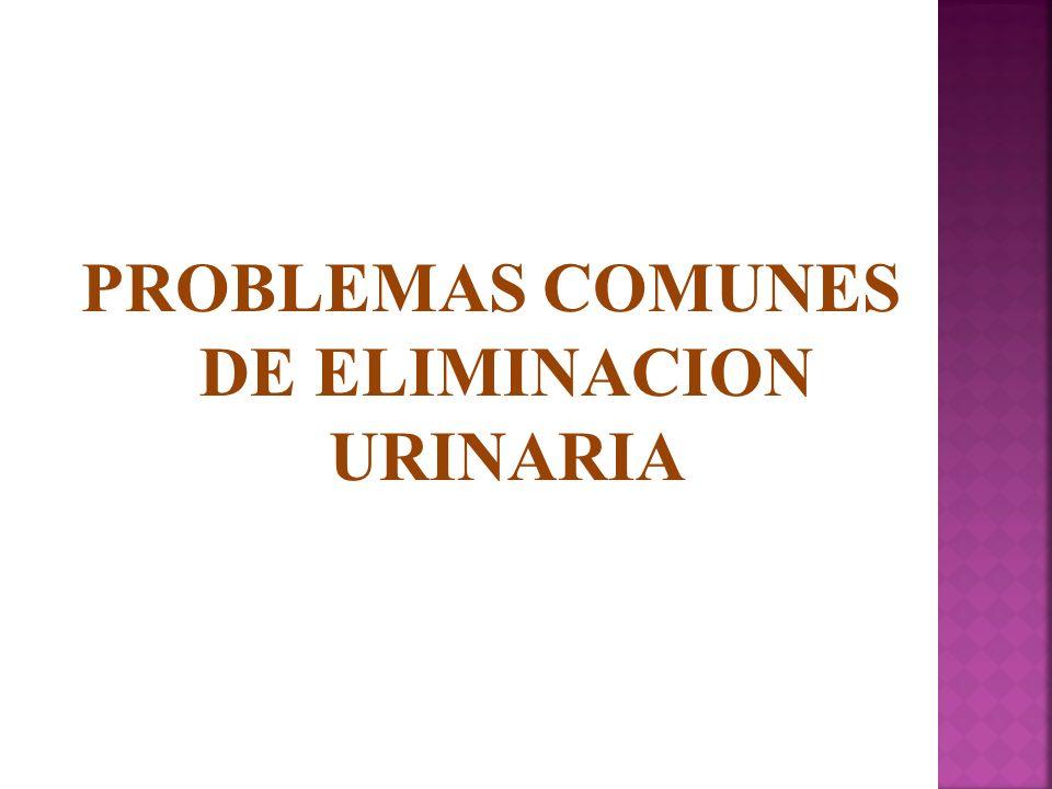 PROBLEMAS COMUNES DE ELIMINACION URINARIA