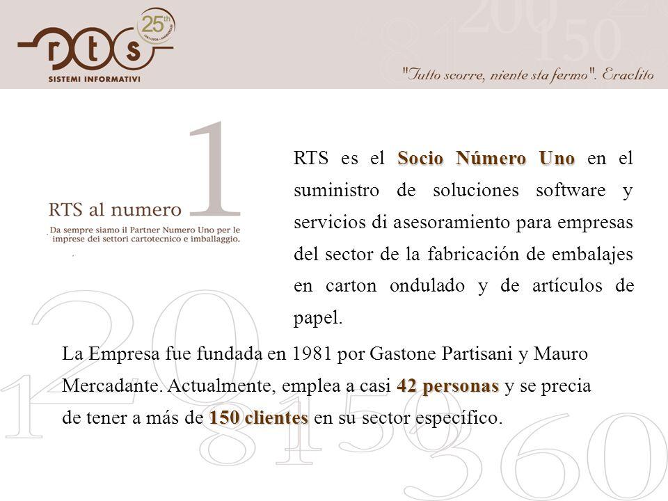 Socio Número Uno RTS es el Socio Número Uno en el suministro de soluciones software y servicios di asesoramiento para empresas del sector de la fabric