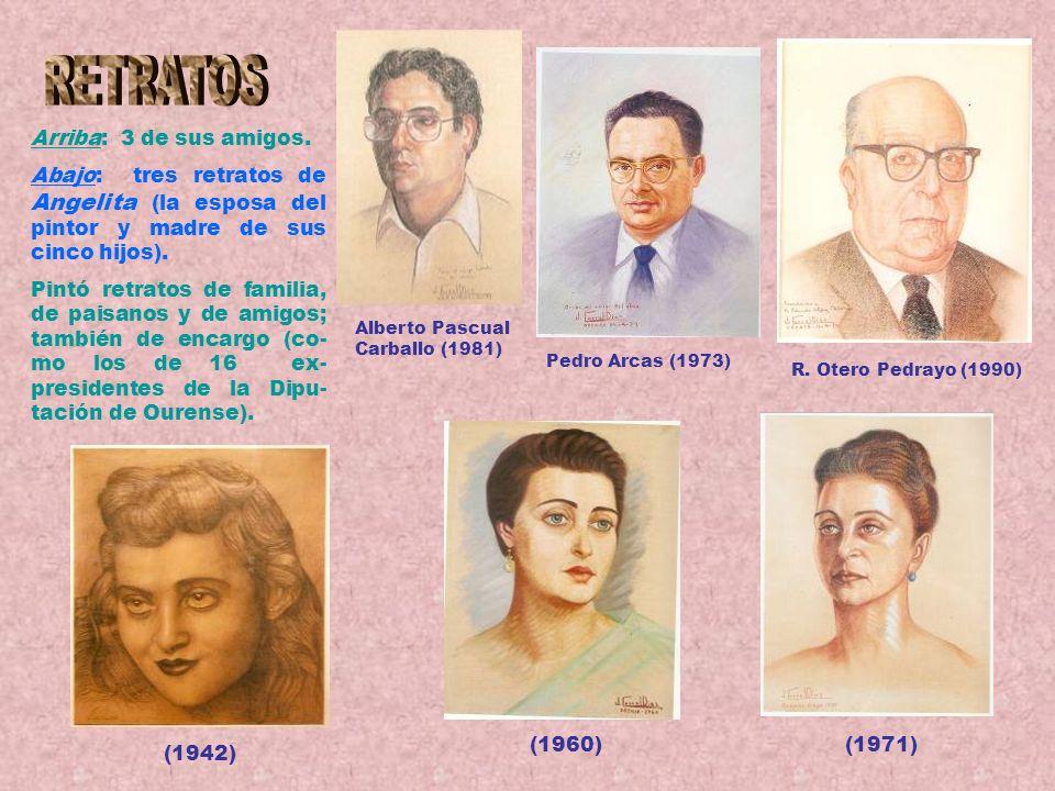 Tránsito Pintó temas religiosos e hizo restauraciones de imágenes. Estas 4 tablillas al óleo, de 137 por 32, sobre la vida de la Virgen, las hizo como