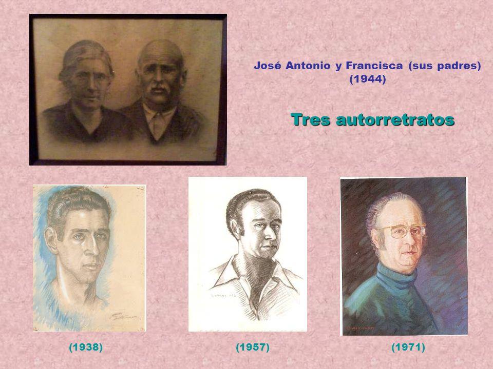 Arriba: 3 de sus amigos. Abajo: tres retratos de Angelita (la esposa del pintor y madre de sus cinco hijos). Pintó retratos de familia, de paisanos y