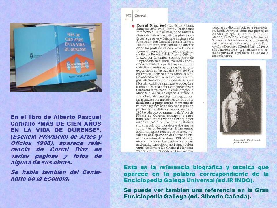 Son muchos los críticos expertos que escribieron algún comentario sobre la obra de Corral Díaz y que figuran en los catálogos de sus exposiciones y en