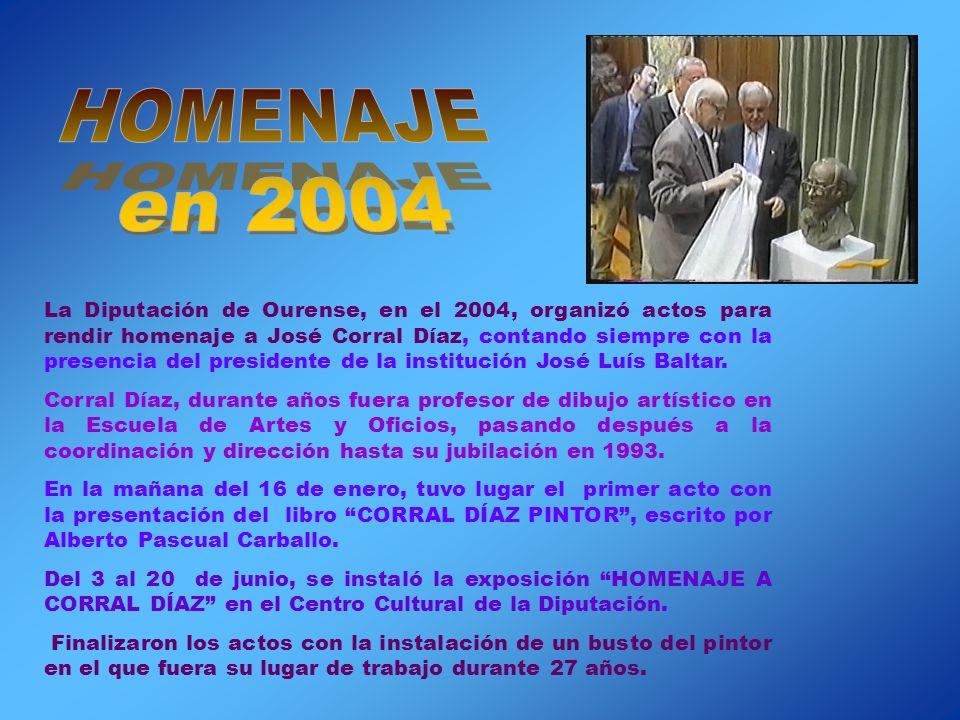 Los dos últimos veranos (2003-04) estuvo con mi madre y conmigo en Espiñoso (Ourense). Aquí, en mi casa en agosto 2003, mi padre realizó los dos últim