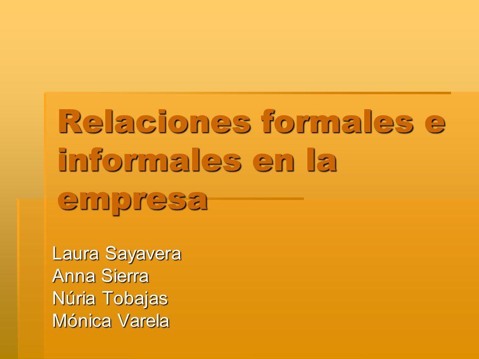 Introducción Pregunta: Pregunta: ¿Cómo influyen las relaciones informales de los trabajadores en las relaciones formales que se dan dentro de la empresa, en función del tamaño de la organización?