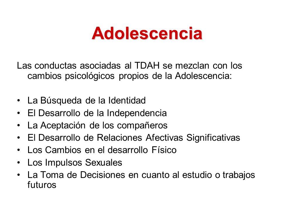 Continúan presentando: Problemas de Adaptación en el colegio Fracaso Escolar Pobres relaciones con sus pares Baja Autoestima.