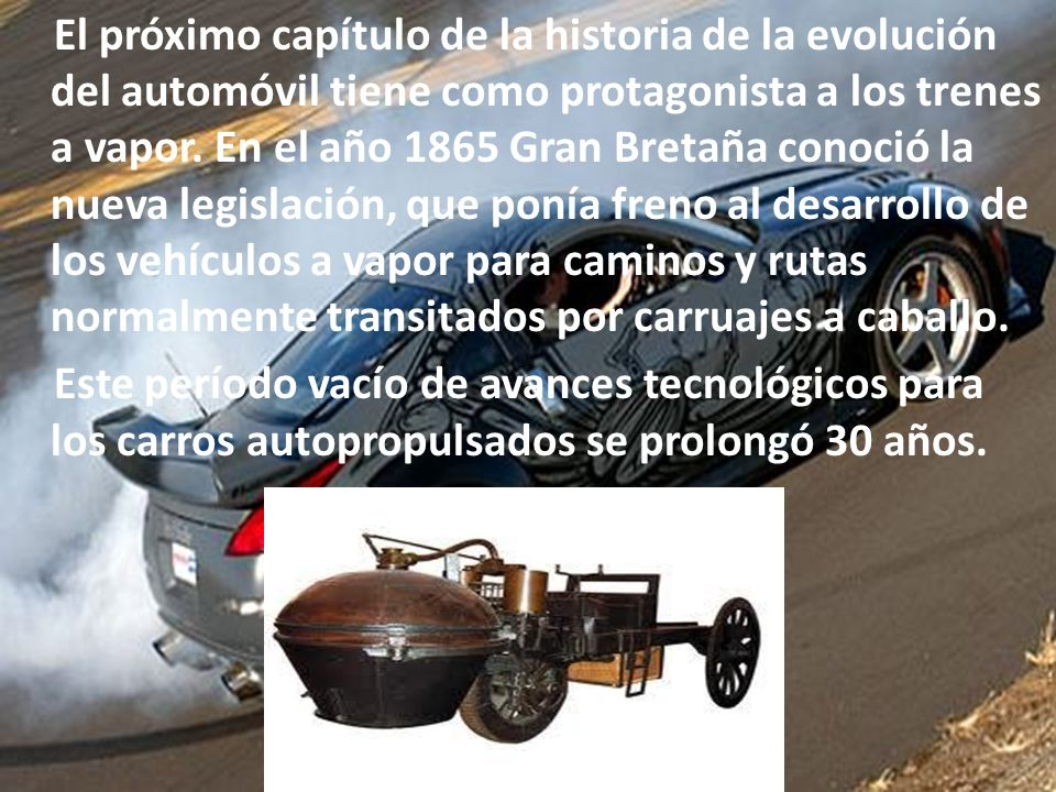 En EEUU, en el año 1789, se otorgó la primera patente por un carruaje de vapor a Oliver Evans, un inventor independiente.