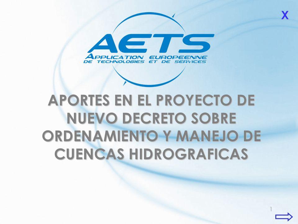 1 APORTES EN EL PROYECTO DE NUEVO DECRETO SOBRE ORDENAMIENTO Y MANEJO DE CUENCAS HIDROGRAFICAS XXXX