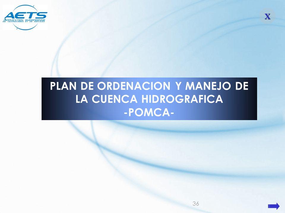 36 XXXX PLAN DE ORDENACION Y MANEJO DE LA CUENCA HIDROGRAFICA -POMCA-