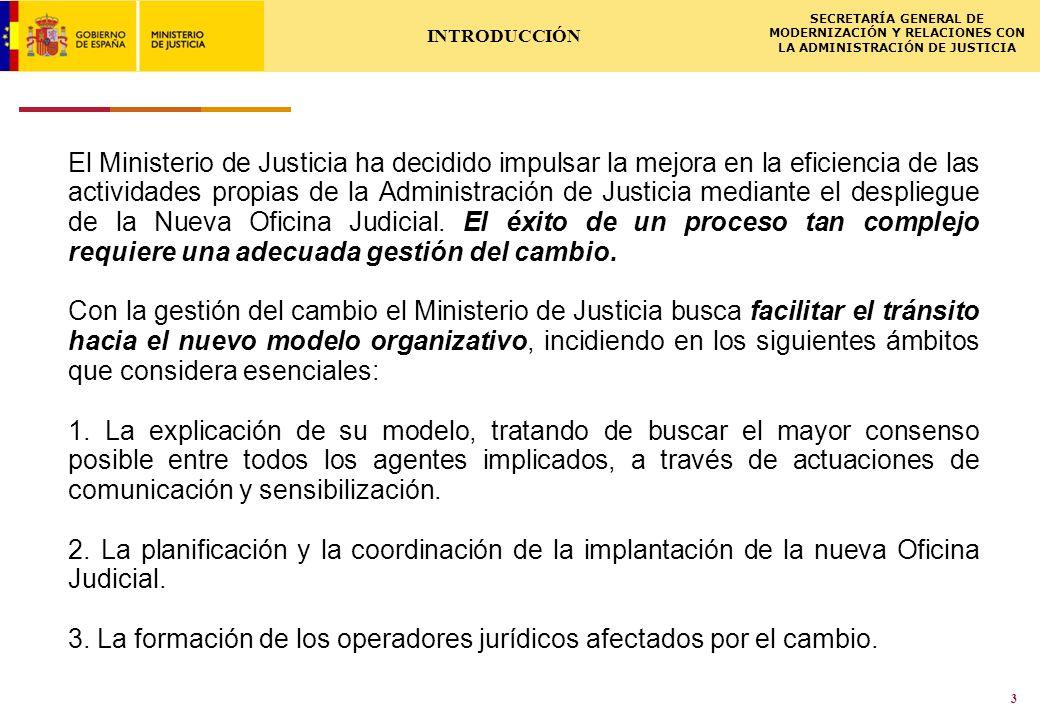 ISCSME-091588-1LL 02.03.2009 SECRETARÍA GENERAL DE MODERNIZACIÓN Y RELACIONES CON LA ADMINISTRACIÓN DE JUSTICIA 4 El cambio de este modelo requiere: 1.Modificaciones legislativas y normativas.