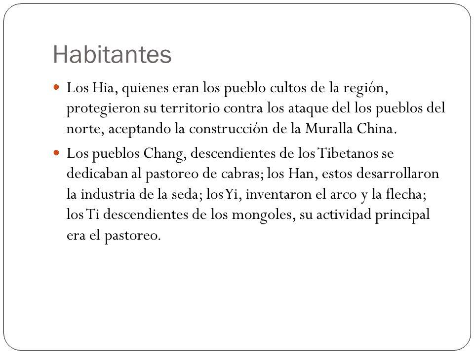 Habitantes Los Hia, quienes eran los pueblo cultos de la región, protegieron su territorio contra los ataque del los pueblos del norte, aceptando la c