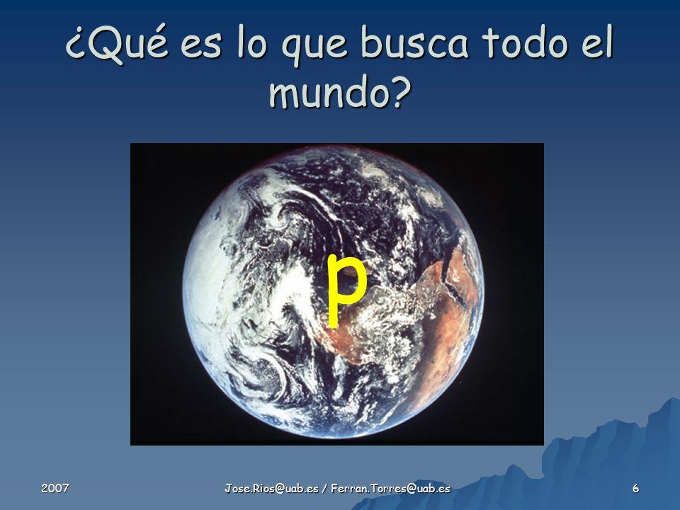 2007 Jose.Rios@uab.es / Ferran.Torres@uab.es 6 ¿Qué es lo que busca todo el mundo? p