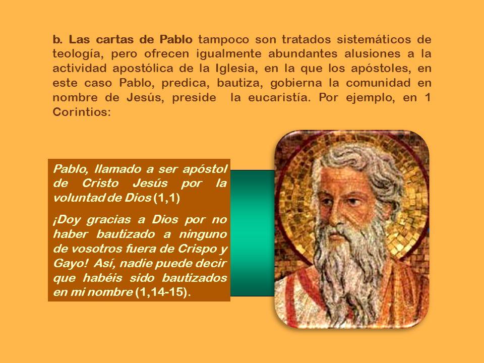 Desde Mileto (Pablo) envió a llamar a los presbíteros de la Iglesia de Efeso (29,17). (Pablo:)No considero mi vida digna de estima, con tal que termin