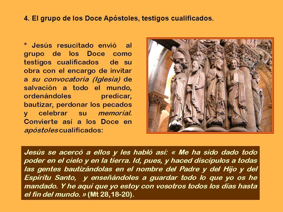* Jesús ha instituido la Eucaristía como medio de unirse a su sacrificio existencial. Cada uno de los Doce, como miembros de la Iglesia, necesitó de l