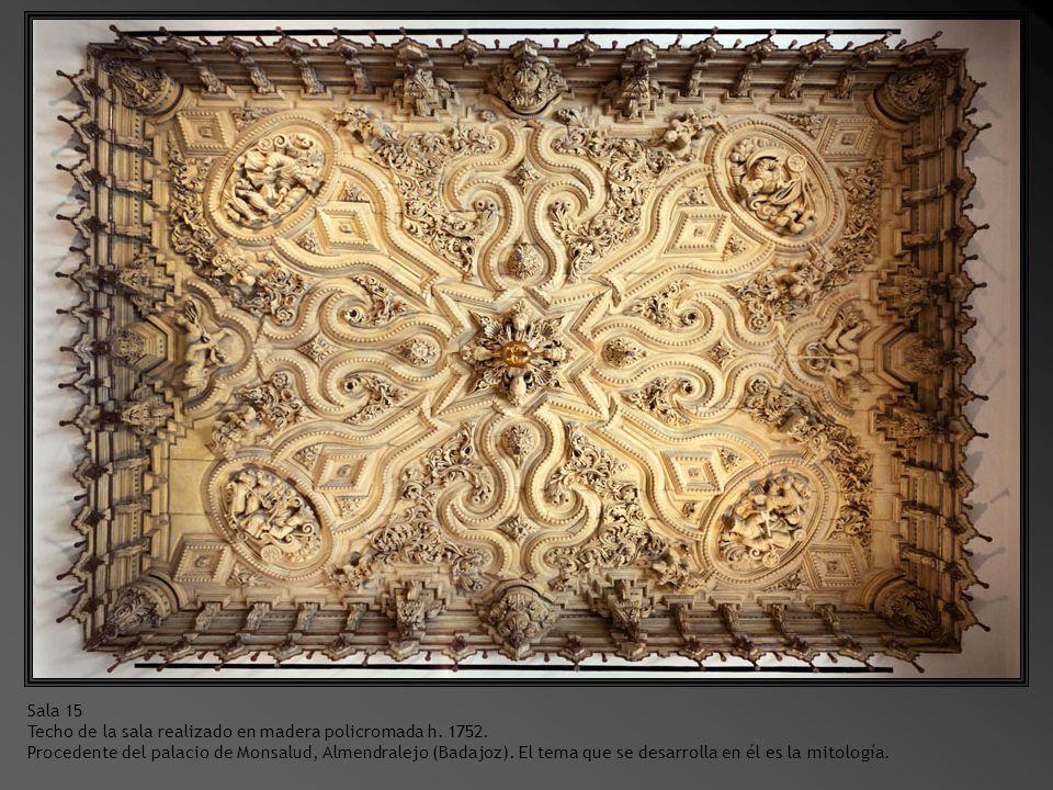 Sala 14 Santa Teresa de Jesús.1625. madera policromada.