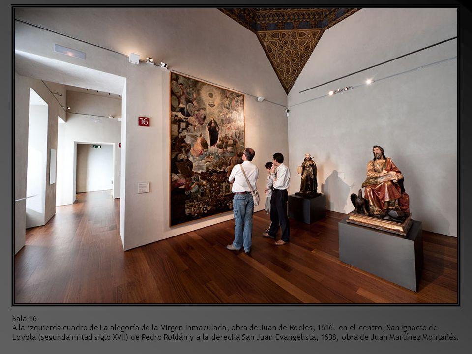 Sala 15.Cristo Yacente, obra de Gregorio Fernández, 1625 – 1630.