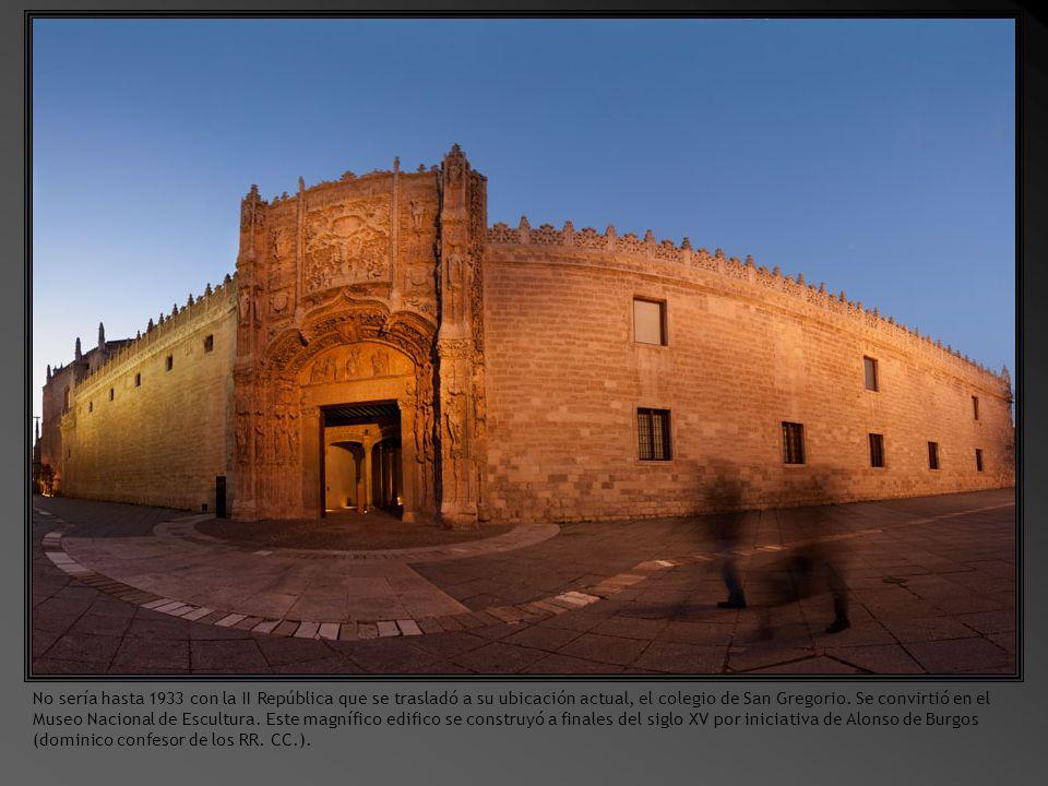 El Museo de Escultura es fruto, como otros muchos museos provinciales, de la Desamortización de Mendizábal, que en 1836 nacionalizó los tesoros artísticos de los conventos en el marco de la reforma liberal del Estado.