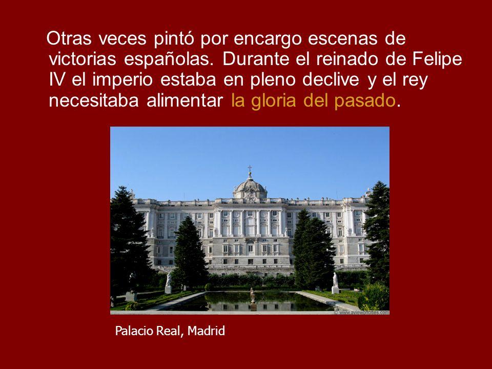 Otras veces pintó por encargo escenas de victorias españolas.