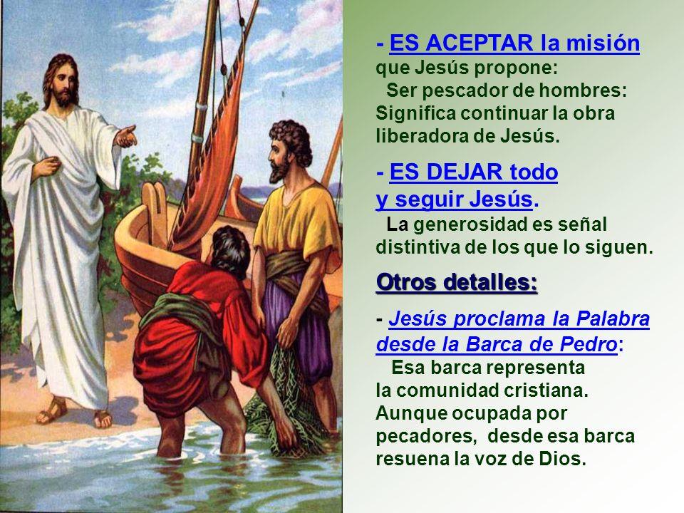 - ES ESTAR con Jesús en la misma barca