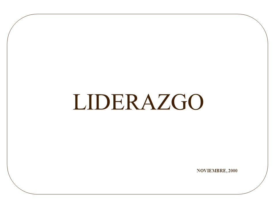 LIDERAZGO NOVIEMBRE, 2000