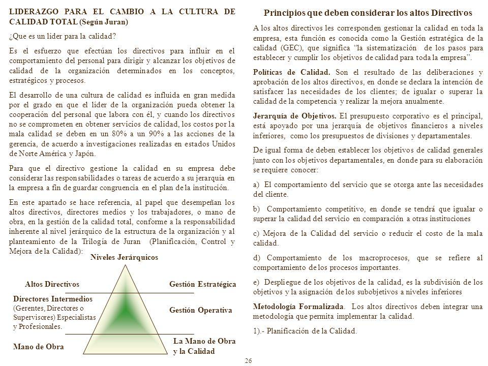 LIDERAZGO PARA EL CAMBIO A LA CULTURA DE CALIDAD TOTAL (Según Juran) ¿Que es un líder para la calidad.