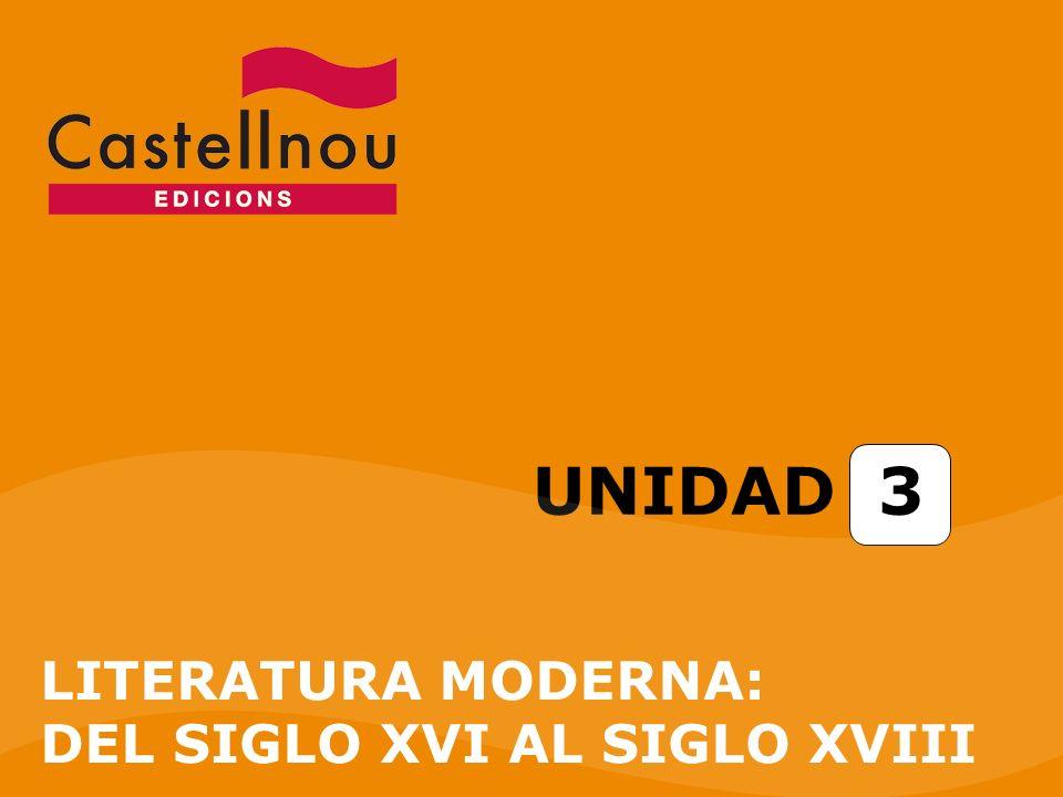 UNIDAD 3 LITERATURA MODERNA: DEL SIGLO XVI AL SIGLO XVIII