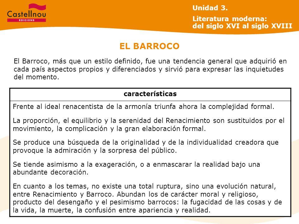 EL BARROCO El Barroco, más que un estilo definido, fue una tendencia general que adquirió en cada país aspectos propios y diferenciados y sirvió para