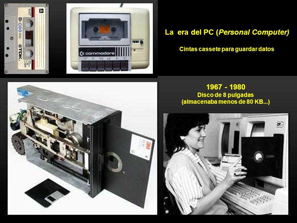 Disco duro de 1956 (con 5 MB de memoria, es decir 1.000 veces menos que un pendrive de los pequeños...)